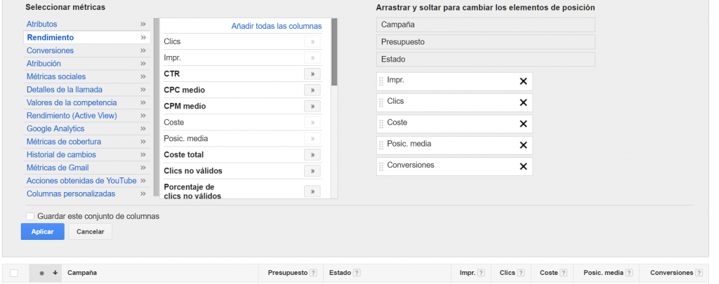 descargar informe adwords